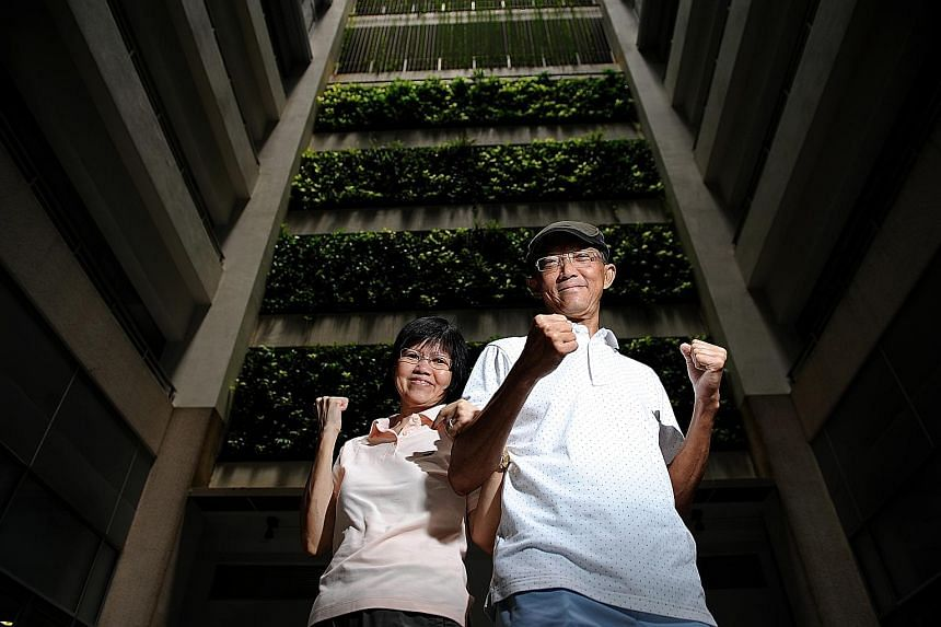 Cancer survivor Peter Gwee Choon Huat, 65, and his wife Lilian Kee Geok Tee, 60.