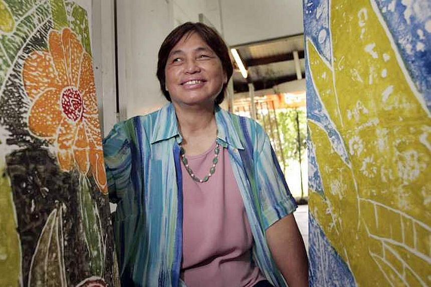 The works of blind Singapore artist Chng Seok Tin will be displayed at the Arts Beyond Sight exhibition.