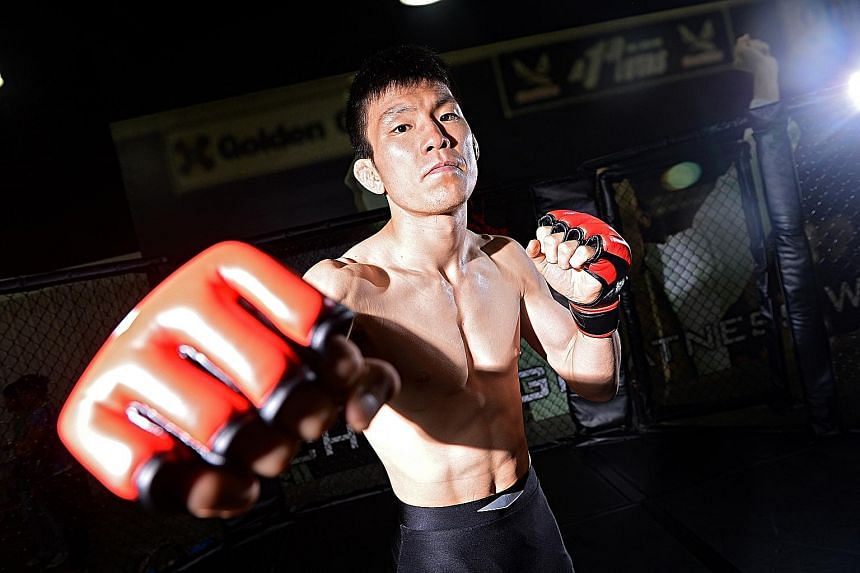Japanese veteran Shinya Aoki (left) will defend his lightweight belt against the Philippines' Eduard Folayang in Singapore on Nov 11.