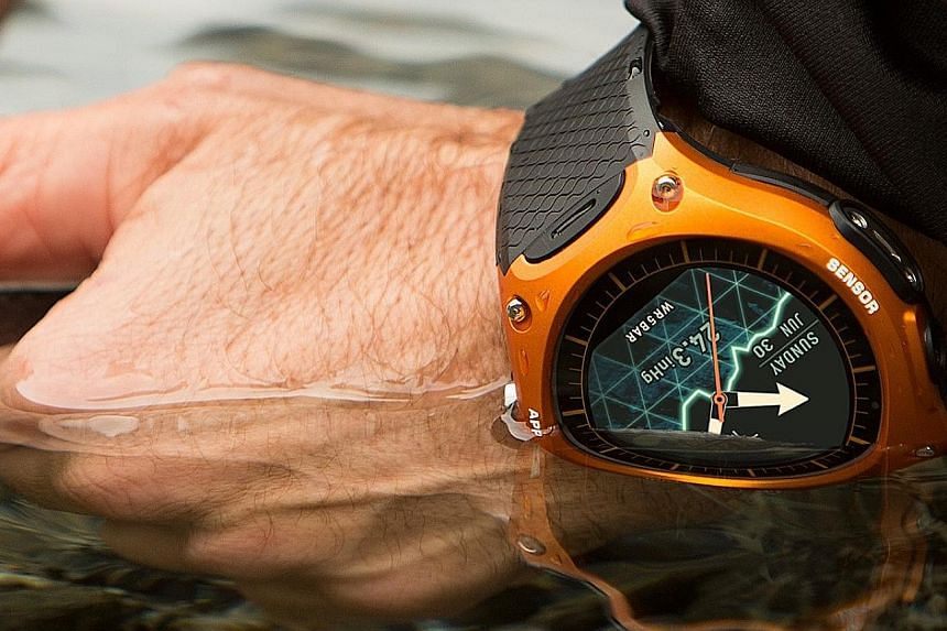 The Casio WSD-F10 is built to withstand the great outdoors and is water-resistant to a depth of 50m.