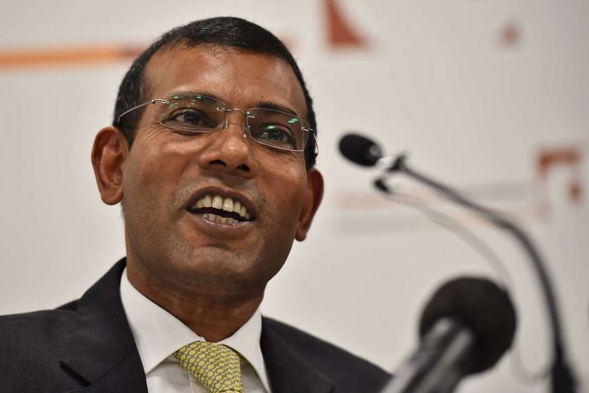 The Maldives has announced that it is seeking former president Mohamed Nasheed's arrest for failing to return to complete a prison sentence.