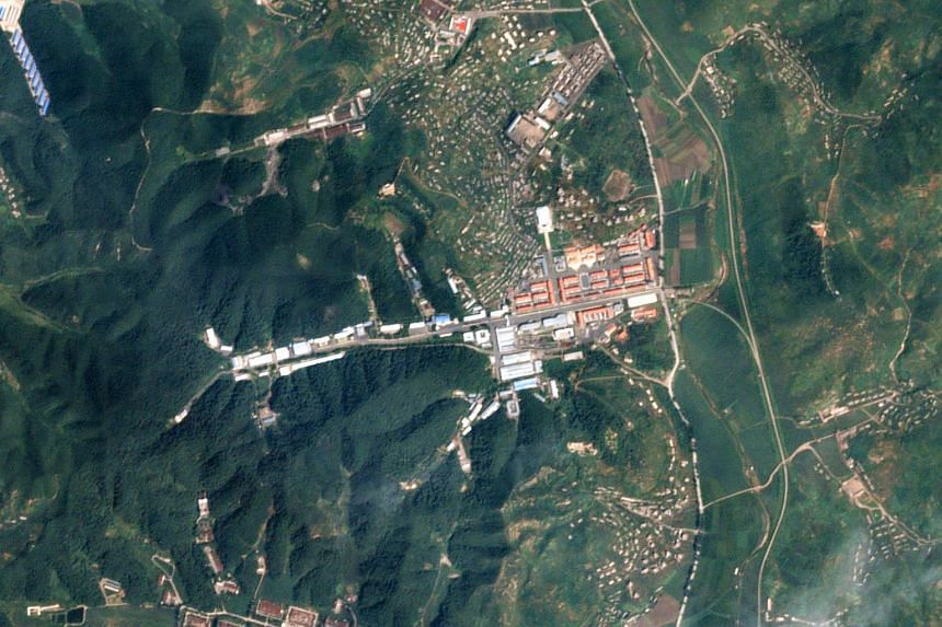 A satellite image of the General Machine Plant in Kaechon, North Korea, taken on Aug 22, 2016.