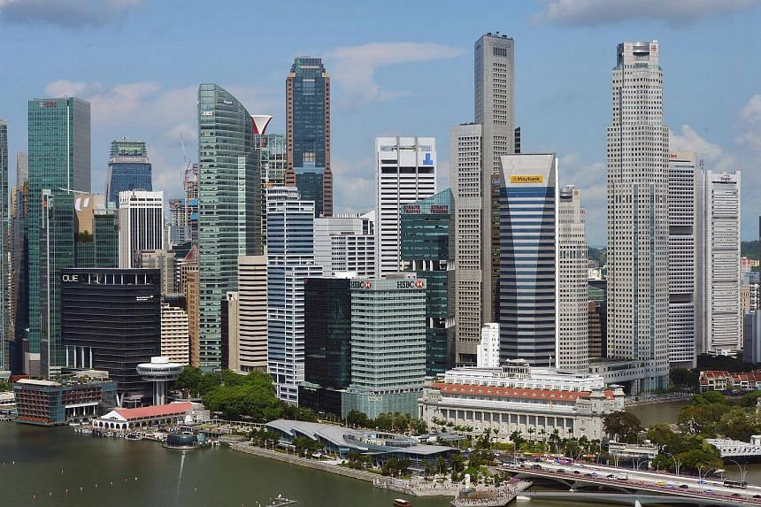 A view of  the Singapore Central Business District.