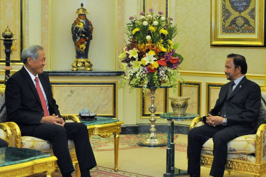 Dr Ng during his meeting with Brunei Sultan Hassanal Bolkiah yesterday.