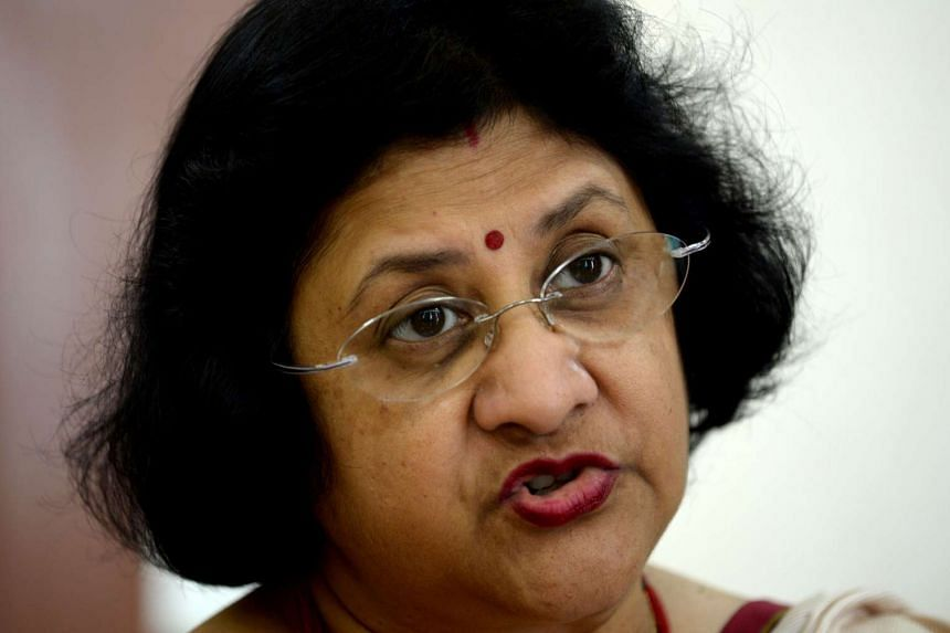 Chairperson of the State Bank of India (SBI), Arundhati Bhattacharya speaks during an interview with AFP in Mumbai on Aug 22, 2016.