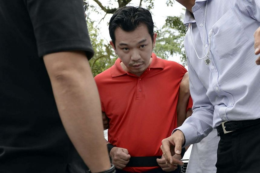 Lee Sze Yong, one of the accused involved in the Sheng Siong kidnapping case, was brought back to Sembawang Park for police investigations.