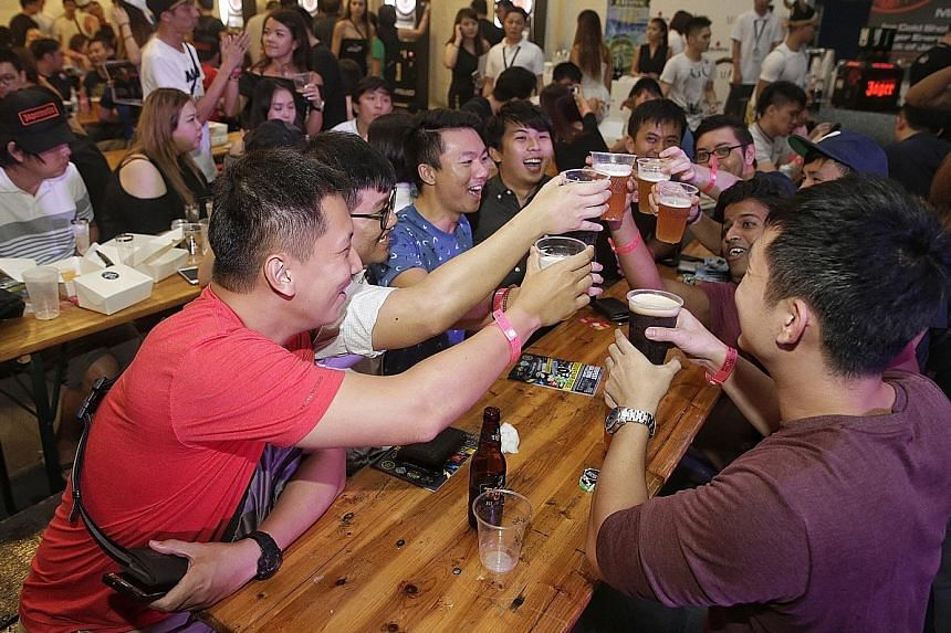 Singapore-based event Beerfest Asia, which was last held in June (left), will hold an edition in West Kowloon in December.