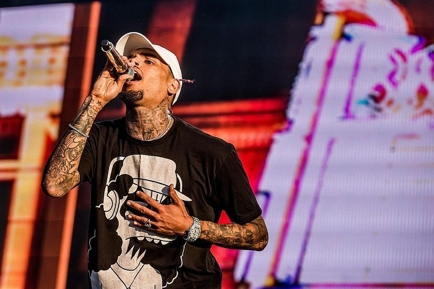 Chris Brown denies any wrongdoing in an Instagram post.