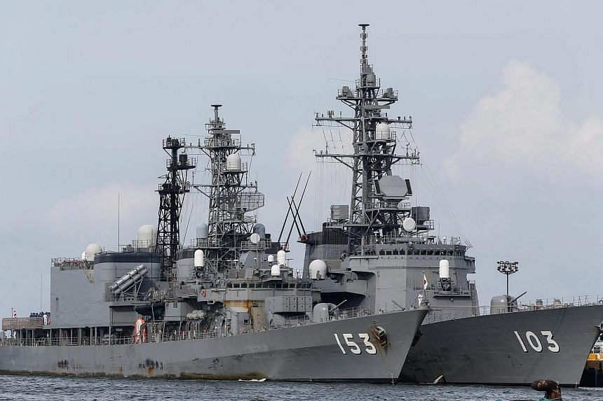 Two Japanese warships docked in the Philippines yesterday for a two-day goodwill visit.