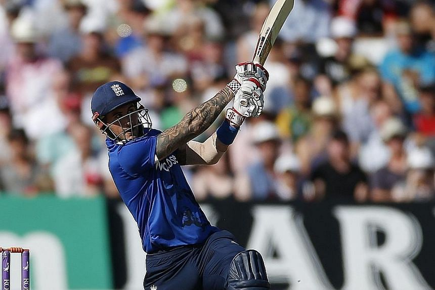 Alex Hales on the way to his record-breaking 171 in the third one-day international against Pakistan at Trent Bridge on Tuesday. After a string of failures in the Test series and two low scores in the earlier ODIs, he surpassed Robin Smith's mark of