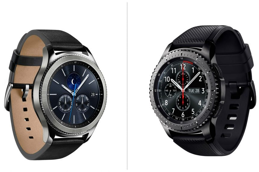 """Samsung's latest smartwatch line, the Gear S3, features a rugged, outdoorsy design in the S3 Frontier and a traditional look in the S3 Classic. These feature a larger screen, a new """"always on display"""" and compatibility with Samsung Pay."""