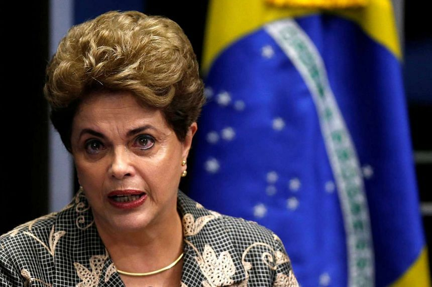 Rousseff speaks during the final session of debate and voting on her impeachment trial in Brasilia, Brazil, Aug 29, 2016.