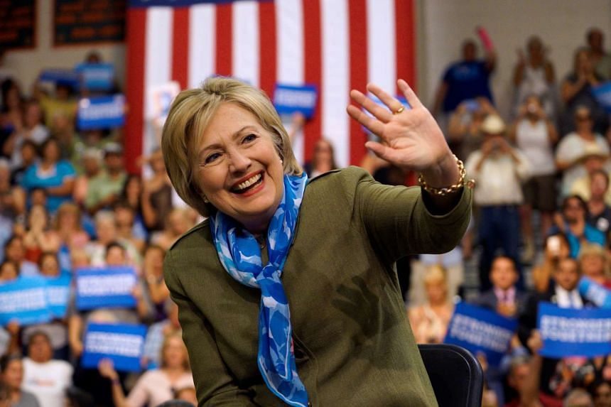 Just 41 per cent of Americans have a favourable view of Clinton, while 56 per cent have an unfavourable one.