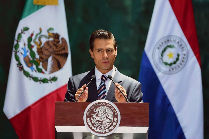 Mexican President Enrique Pena Nieto (above) is under fire after Donald Trump accepted his invitation to visit Mexico.