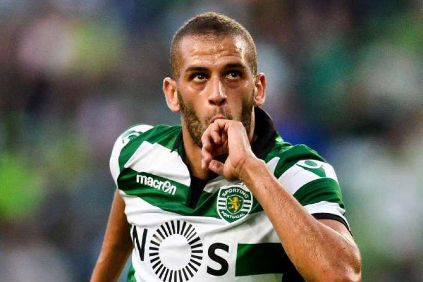 Sporting Lisbon's Algeria striker Islam Slimani