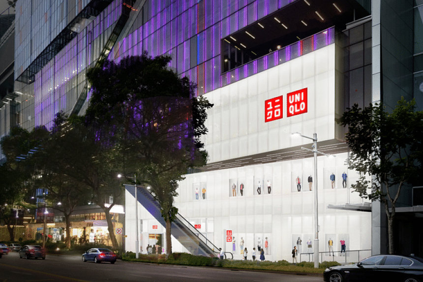 An artist's impression of Uniqlo's Singapore flagship store at Orchard Central, which will span three floors.