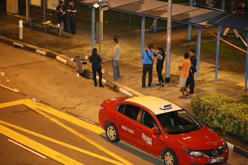A taxi driver is suspected of slashing a 21-year-old man at Rivervale Crescent on Sept 1, 2016.