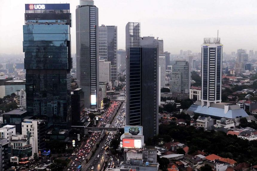 Skyscrapers in the downtown area of Jakarta, on June 18, 2016.