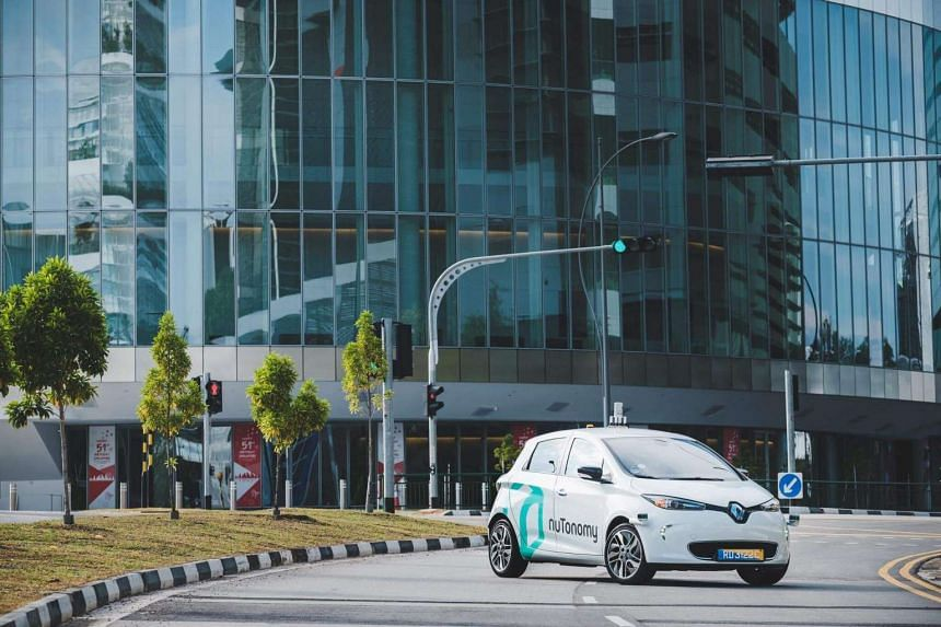 A handout image dated Aug 20, 2016, issued by US start-up company nuTonomy, showing a nuTonomy self-driving vehicle pictured in Singapore.