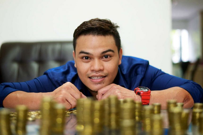 Mr Muhammad Helmy Kamid started saving $1 coins two years ago.