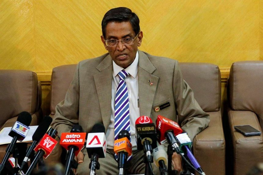 Malaysia's Health Minister, Dr Subramaniam Sathasivam speaks to the media during a press conference in Putrajaya, Malaysia on Sept 1 after Malaysia confirmed its first case of Zika virus infection.