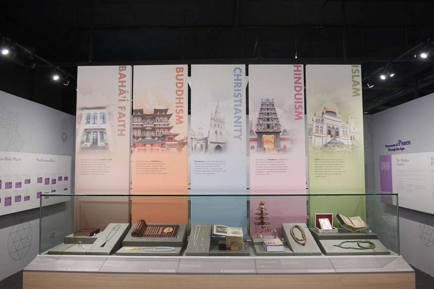 Displays featuring artefacts from the different religions in Singapore at the Harmony in Diversity Gallery on Aug 2, 2016.