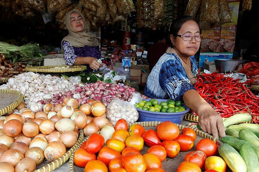 Cheaper food in Indonesia was among the main factors driving the drop in prices in August.