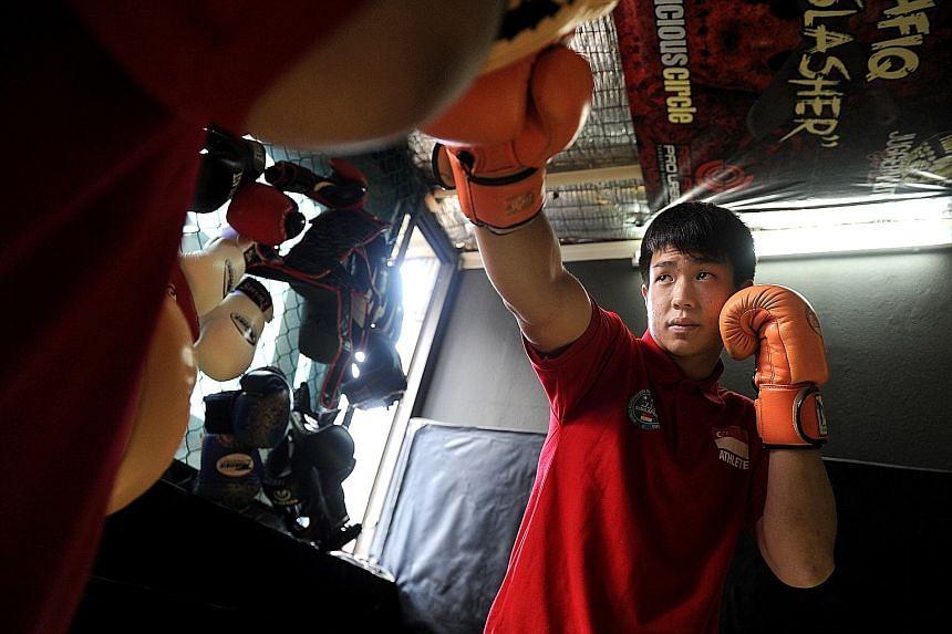 Terrence Teo training ahead of the 2016 Cheongju World Martial Arts Masterships.
