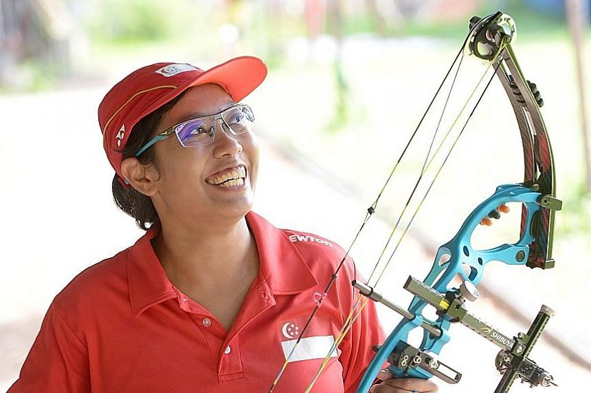 To train up for the Paralympics, para-archer Syahidah Alim stepped up her training to six hours a day, six days a week, shooting more than 200 arrows during each of her sessions. She also hits the gym and swims regularly.