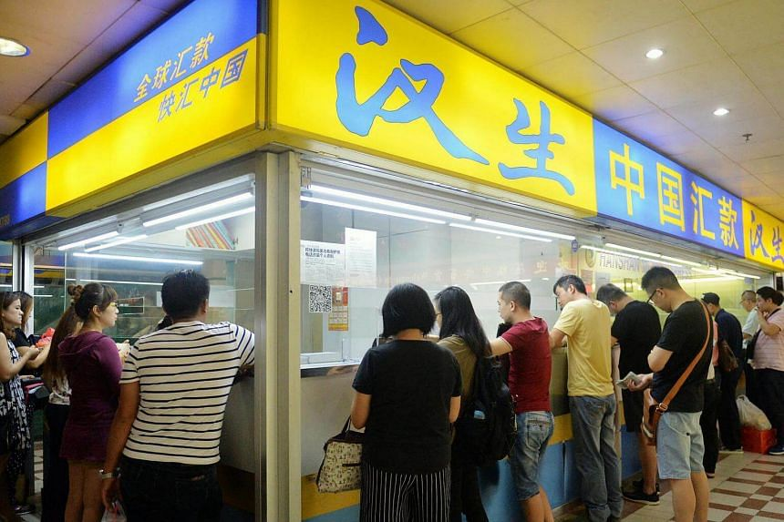 Hanshan Money Express Remittance at People's Park Complex.