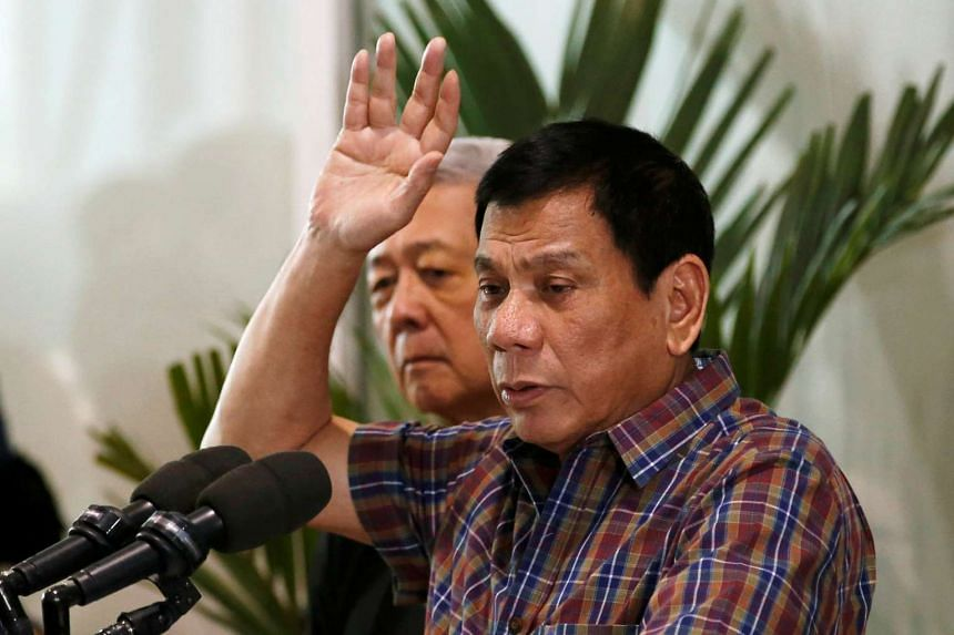 Philippine President Rodrigo Duterte has said that Beijing is expanding its large-scale land reclamation in the disputed South China Sea.