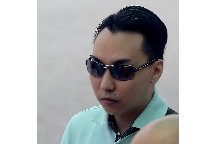Franklie Tan Guang Wei, 25, pushed his girlfriend's one-year-old son off a bed with so much force the baby landed on the ground 2m away with a broken skull and bleeding in the brain.