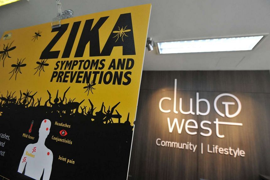 A Zika poster at Tampines West Community Centre on Sept 3.