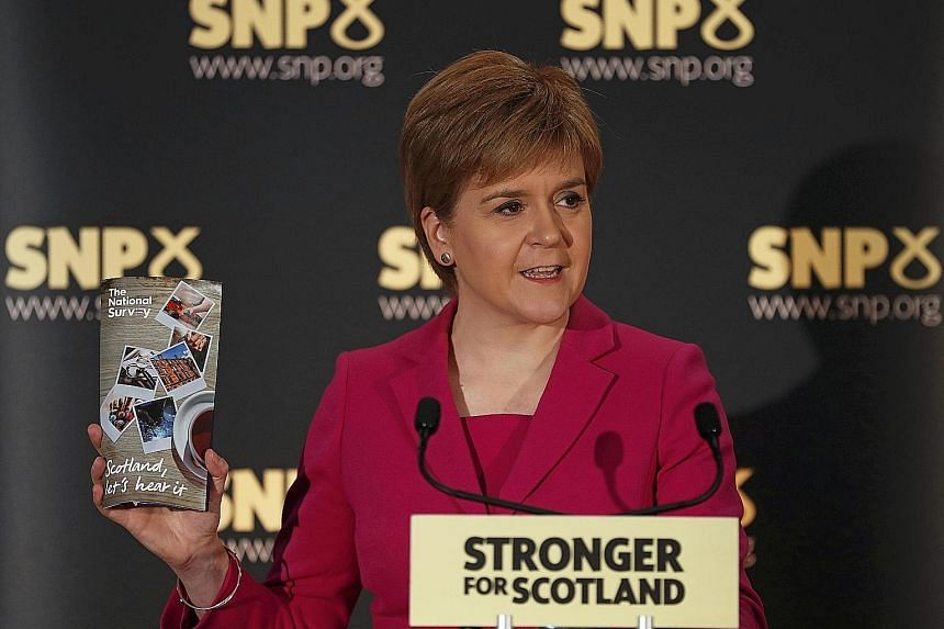"""Ms Sturgeon speaking at the launch of SNP's """"biggest-ever political listening exercise"""", in Stirling. She says that the United Kingdom that existed before June 23 has fundamentally changed."""