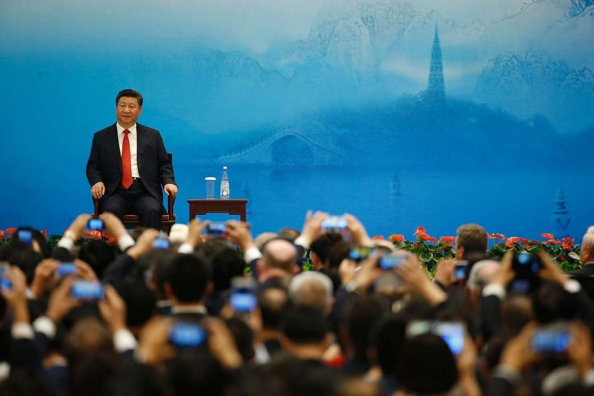 Mr Xi spoke to some 800 business leaders at the Business 20 summit in the coastal city of Hangzhou.