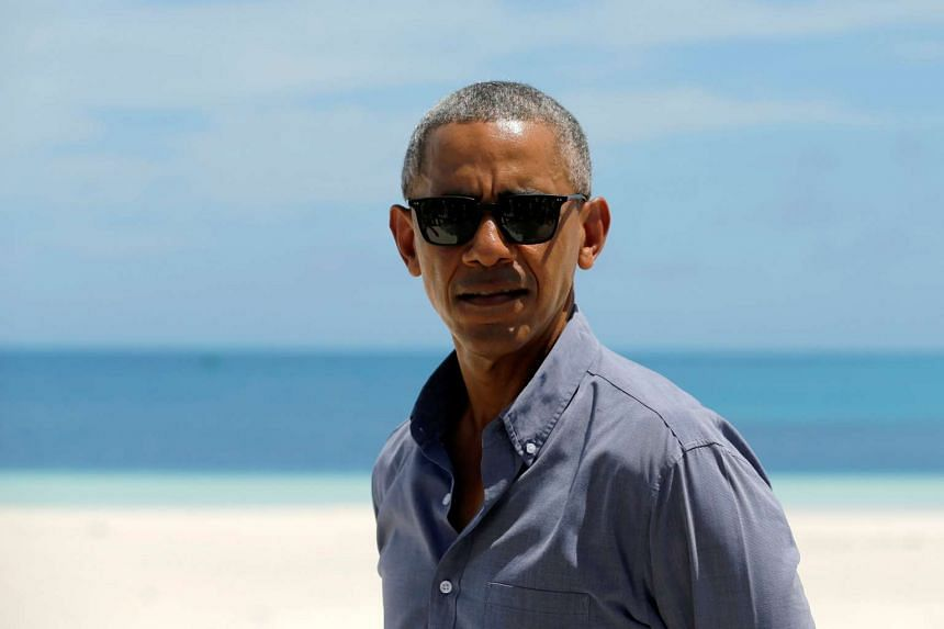 Obama visiting the US territory of Midway Atoll in the North Pacific Ocean on Sept 1, 2016.