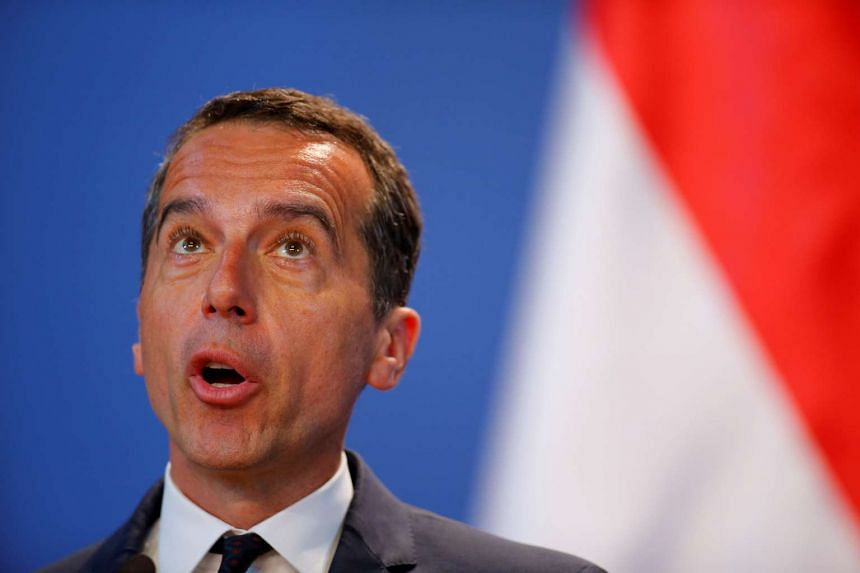 Austrian Chancellor Christian Kern attends a news conference in Budapest, Hungary, on July 26, 2016.