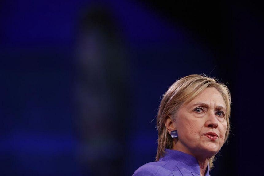 Democratic presidential nominee Hillary Clinton speaks at the American Legion Convention on Aug 31, 2016 in Cincinnati, Ohio.