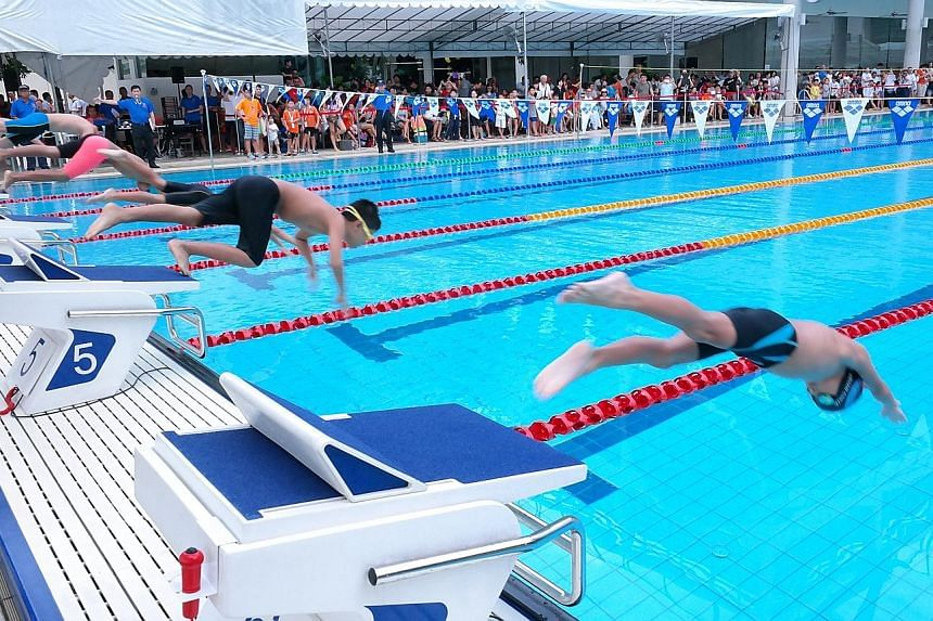 Eight-year-old Reagan Cheng shone brightest on day one of the Chinese Swimming Club (CSC) Super Junior Swimming Invitational. The CSC swimmer won six golds at the club's Amber Road premises yesterday, coming out tops in the 50m butterfly, backstroke,