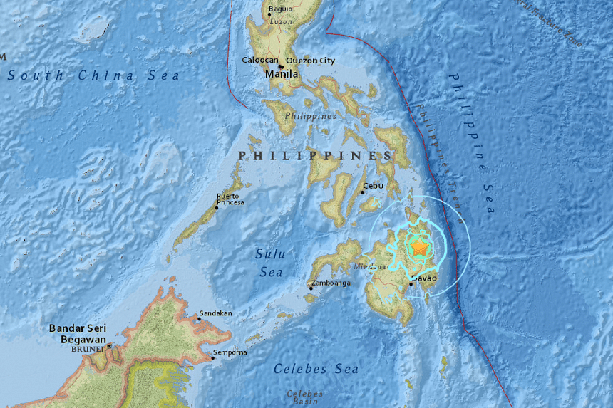 An earthquake of 5.7-magnitude struck the southern Philippine island of Mindanao on Sunday (Sept 4).