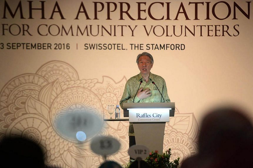 Deputy Prime Minister Teo Chee Hean speaks during the 12th Annual Appreciation Lunch for Community Volunteers held at Swissotel the Stamford on Sept 3, 2016.