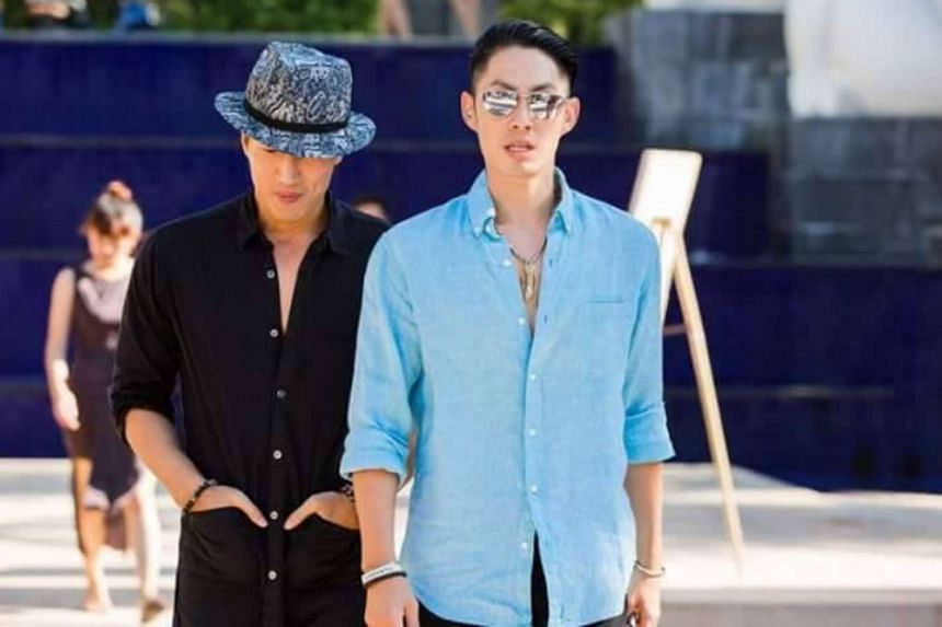 Ken Chu's F4 bandmates Jerry Yen (left) and Van Ness Wu made an appearance at his wedding in Bali, on Sept 3, 2016.