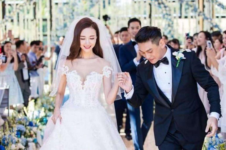 F4 member Ken Chu married actress Han Wenwen in Bali on Sept 3, 2016.
