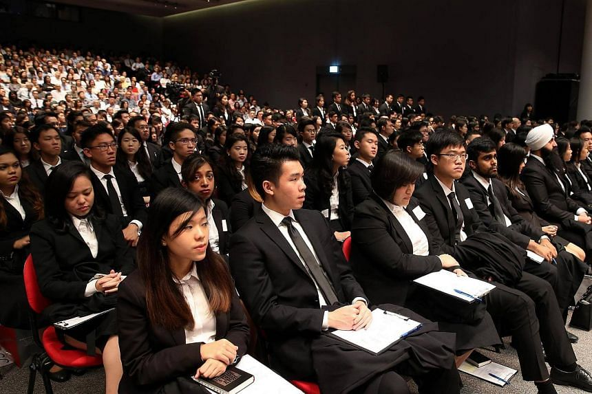 Lawyers being called to the bar on Aug 27, 2016.