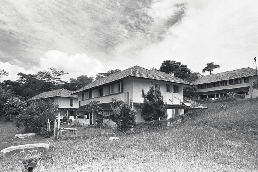 Vietnamese refugees holding centre at Hawkins Road off Admiralty Road in 1978.