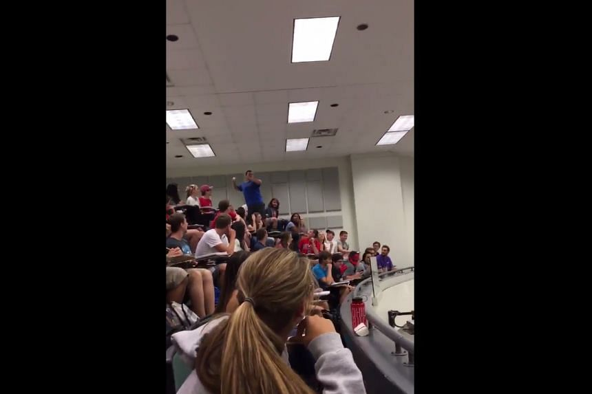 An Ohio State University student got full marks on the first quiz for everyone in his organic chemistry class after managing to toss a ball from the balcony of the lecture theatre into a bin in front of the room.