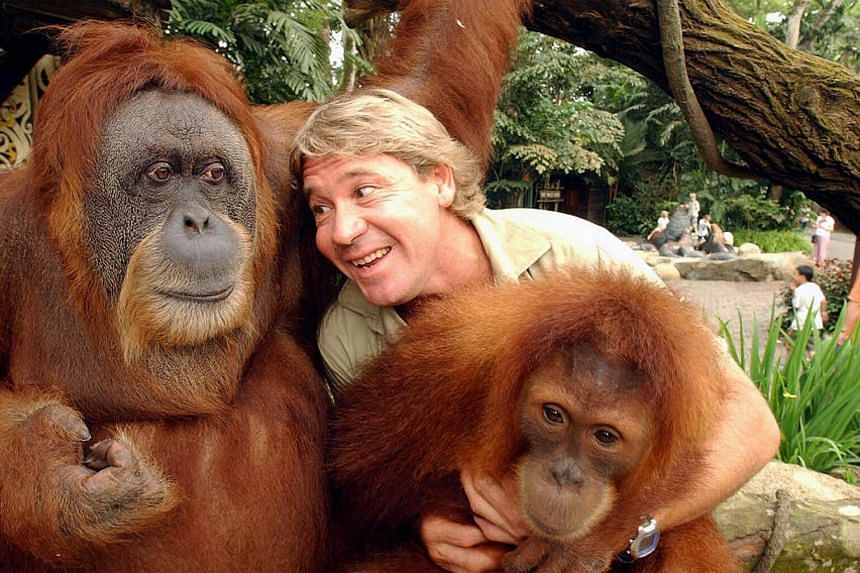 The late Steve Irwin, the host of hit documentary The Crocodile Hunter was in Singapore to film at the Singapore Zoo and Jurong BirdPark in 2003.