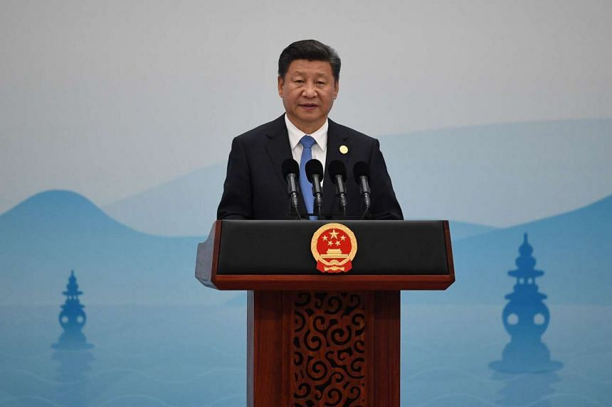 China's President Xi Jinping delivers his closing statement for the G20 Summit in Hangzhou on Sept 5, 2016.