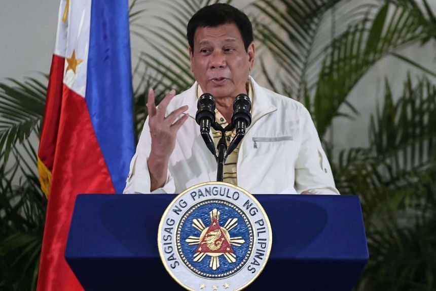 """Philippine President Rodrigo Duterte has said that he had received an """"unsettling"""" intelligence report showing that China sent barges to the contested Scarborough Shoal."""