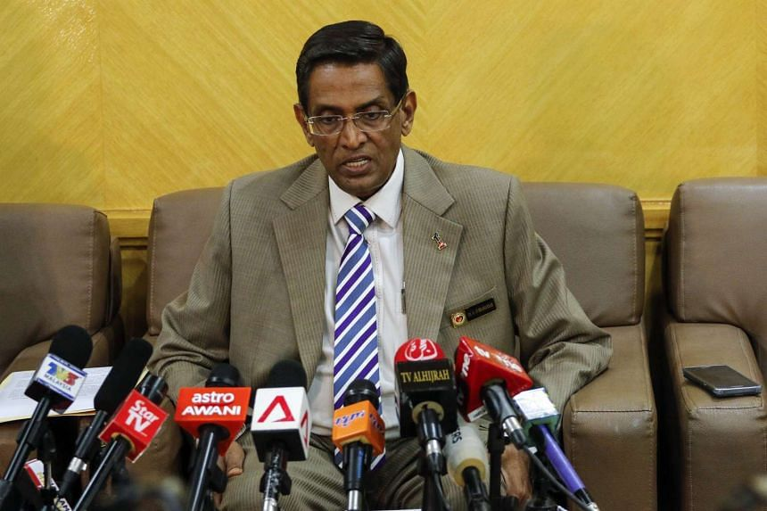 Malaysia's Health Minister, Dr Subramaniam Sathasivam speaks to the media during a press conference in Putrajaya, Malaysia on Sept 1, 2016.